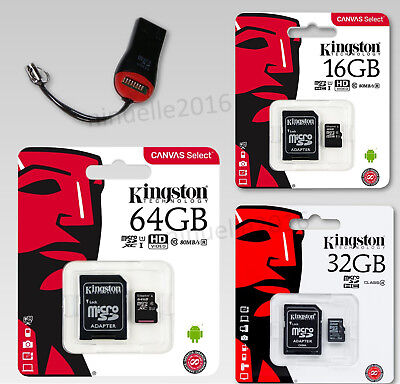 Kingston Microsd Handy Speicherkarte 16/32/64GB Class 10 UHS-I 80MB/s UHS-I