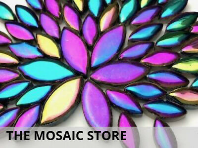 Titanium Ceramic Petals / Leaves - Mosaic Tiles Supplies Art Craft