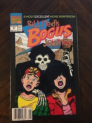 Bill and Ted's Bogus Journey #1:  MOVIE ADAPTATION -- HIGH GRADE (Marvel 1991)