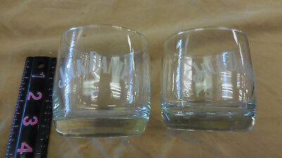 Pair Of (2) Jack Daniel's Old No.7 Brand Small Tumbler Glass Whisky Two Bar Pub