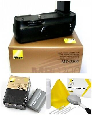 Nikon MB-D200 Multi-Power Battery Grip for D200 Camera-With Nikon En-El3e-NEW