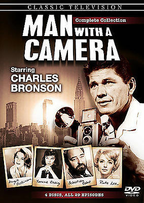 Man With A Camera: Complete Collection 4-Disc DVD Set Charles Bronson Classic TV