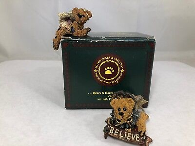 Boyds Bear Christmas Nativity Ariel and Clarence as Angels Series 3