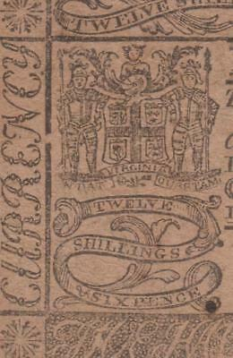 Rare Virginia Colonial Currency: VA-95 *** PMG VF30 *** 12s6p  May 6, 1776