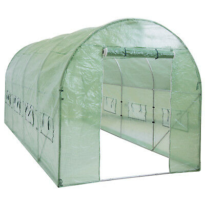 BCP15x7x7ft Portable Large Walk In Tunnel Garden Plant Greenhouse Tent w/8 Vents