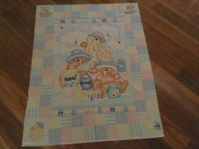 New Cot Quilt Panel Baby Quilting Cotton Material Bears Bees
