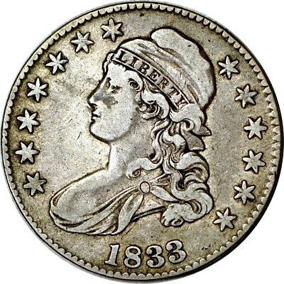 1833 50C Capped Bust Half Dollar VF  K5438