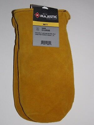 Men's Majestic Size Xlarge 1635 Pile Lined Leather Chopper Mittens - Xlg