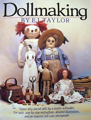 DOLLMAKING by E J Taylor - 7 Projects - Rag Paper Stocking Paper-Mache Clay Wax