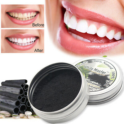 Natural Bamboo Activated Charcoal Tooth Whitening Cleaning Teeth Stains Removal