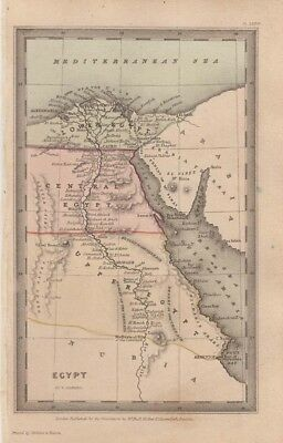 1834 Nice Early Starling Map of Egypt