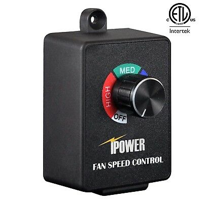 iPower Variable Fan Speed Controller for Duct Inline Fan Exhaust Air Blower 350W