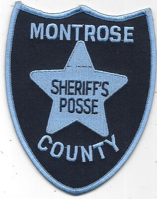 "Police Patch: Montrose County Colorado Police Sheriff's Posse 5"" X 4"""