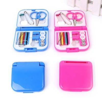1 Set Sewing Kit Measure Scissor Thimble Thread Needle Storage Box Travel Tool