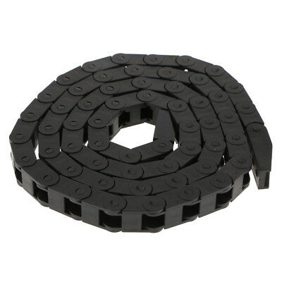 1m Black Plastic Drag Chain Cable Carrier For CNC Router Mill