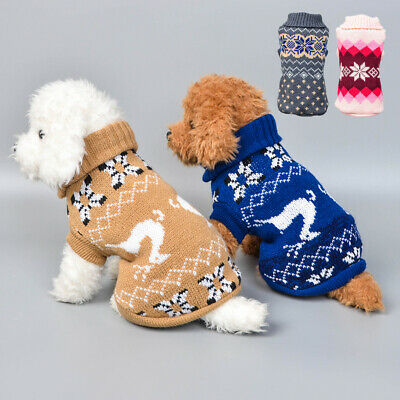 Christmas Coat Clothes Pet Dog Vest Sweater For Small Medium Dogs Winter Jacket