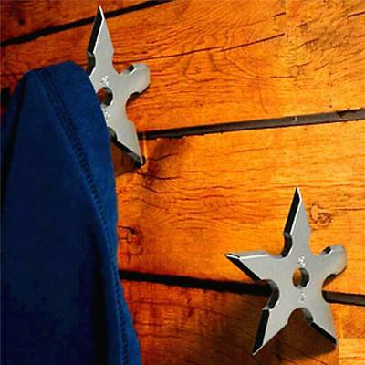 Wall Coat Hook Metal hanger Novelty Home Decor Star Dart Shape Ninja New MA