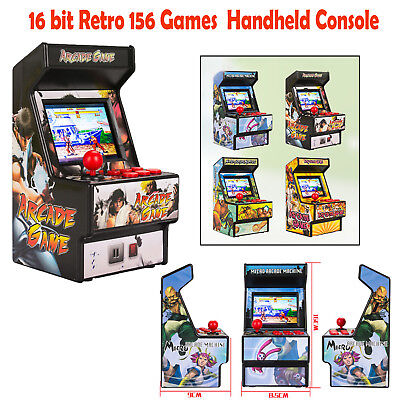 Classic Portable Rechargeable Mini Arcade Gamer 16 bit 156 Game Handheld Console