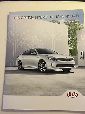 2018 KIA OPTIMA HYBRID PLUG-IN HYBRID 18-page Original Sales Brochure