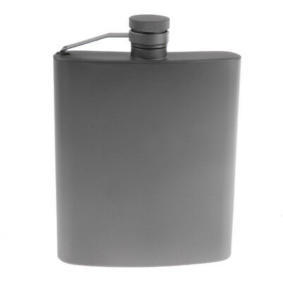 Portable Titanium Liquor Whiskey Alcohol Wine Hip Flask Drink Bottle 220ml