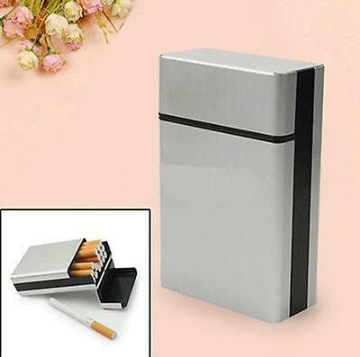 Aluminum Metal Cigar Cigarette Box Holder Pocket Tobacco Storage Case Hot MA