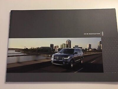 2018 LINCOLN NAVIGATOR 36-page Original Sales Brochure