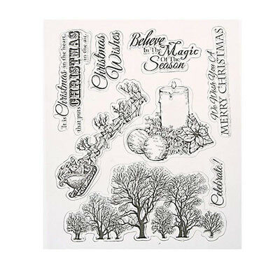 Christmas Clear Stamp for DIY Scrapbooking Album Paper Card Making Home Decor