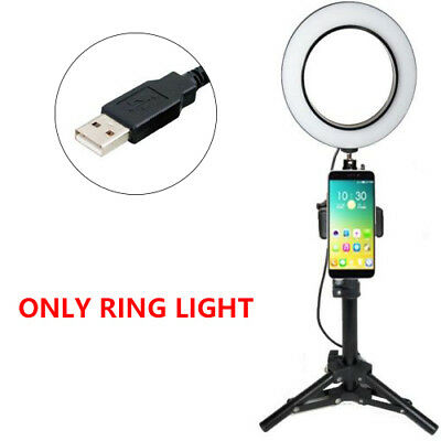 """6"""" Dimmable LED Ring Light Studio Camera Photography Phone Selfie Light Photo"""