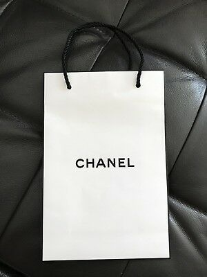 Chanel Gift/Shopping Bag Small Black Handle 9.3x6.25x2.75 inches