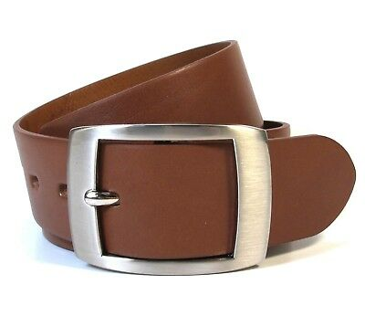 Mens Real Genuine Leather Tan Brown Belt 1.25 Wide S-L Thick Casual Jeans CM9