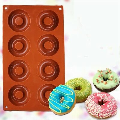 Silicone Mould Non Stick Doughnut Mould Cake Baking Oven Tray Party SW