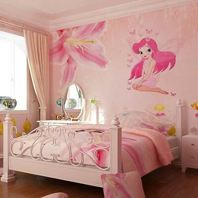Fairy Princess Butterfly Decal Wall Stickers For Girls Baby Kids Room Decor SW