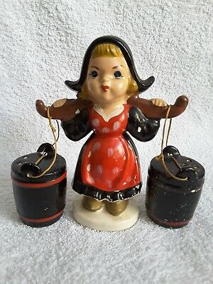 Vintage Milkmaid Salt & Pepper Shakers