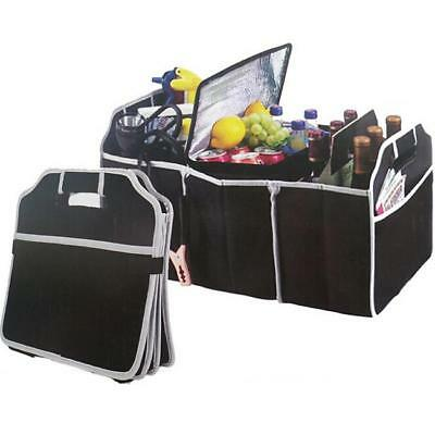 2 IN 1 Car Boot Organiser Shopping Tidy Heavy Collapsible Trunk Storage Bag SW
