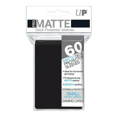 ULTRA PRO Pro-Matte Deck Protector Sleeves BLACK Small Card Size 60ct 62x89mm
