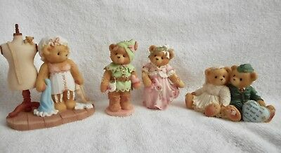 Cherished Teddies -Lot of 4 - Robin, Marian, Sarah, Forever Yours Forever True