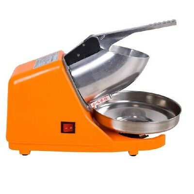 220V 300W Electric Ice Shaver Crusher Snow Cone Maker Machine Stainless Steel