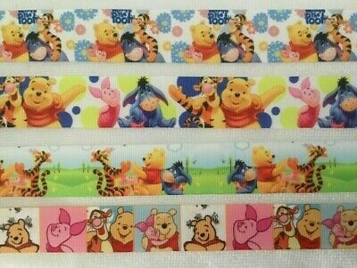 "Winnie The Pooh Ribbons - Sold by 2M -7/8"" & 1"" see listing for details - Craft"