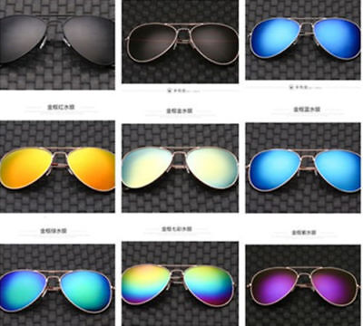 Unisex Vintage Retro Women Men Glasses Aviator Mirror Lens Sunglasses