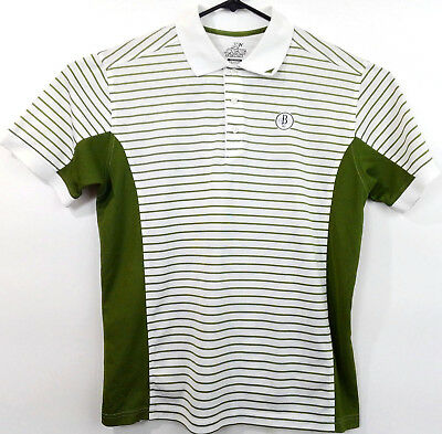 a9e292763 Ahead AX Extreme Golf Polo Shirt - White Green Stripe - Logo - Men s Medium