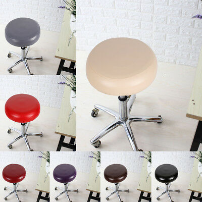 PU Leather Bar Stool Replacement Cover Elastic Waterproof Round Chair Sleeve