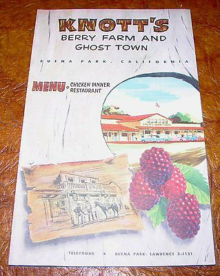 1960's Knotts Berry Farm & Ghost Town Brochure Map Original Visitor Guide 61-69