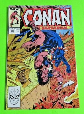 Conan The Barbarian #216 Marvel Comics Copper Age (1989) C1185