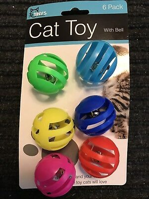 6 Piece Cat Toy Balls With Bells