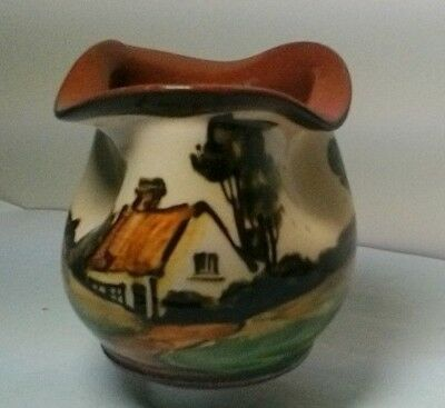Crown Dorset Art Pottery  Motto Ware Pinched Pot