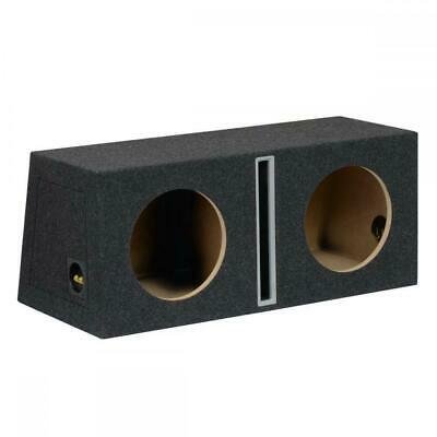 "10"" 25cm MDF Twin Port Car Audio Speaker Sub Subwoofer Bass Box Enclosure 70L"