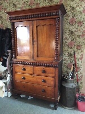 victorian larder pantry linen press house keepers cupboard 7ftx4ft