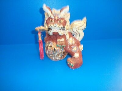 Vintage Foo Dog - Marked Made In China