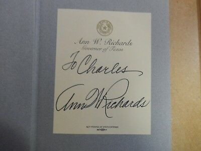 "Texas Governor Ann Richards Signed Book ""Straight from the Heart""-First Edition."