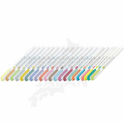 Zebra Mildliner 15 Different Colours Soft Colour Pen Highlighter Marker